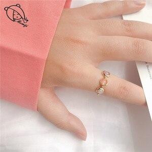 Момиджи модные золотые бисер серебряного цвета кольца для женщин женские туфли-лодочки на высоком каблуке ручной работы из натурального камня Свадебная вечеринка кольца эластичные подарок по оптовой цене