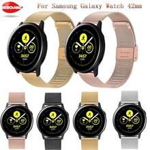 Ремешок из нержавеющей стали для samsung galaxy watch 42 мм/watch
