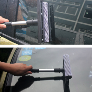 Image 4 - Detachable Car Window Brush Handheld Silicon Cleaning Scrubber With Sponge Auto Double sided Glass Scraper Cleaner For Windows
