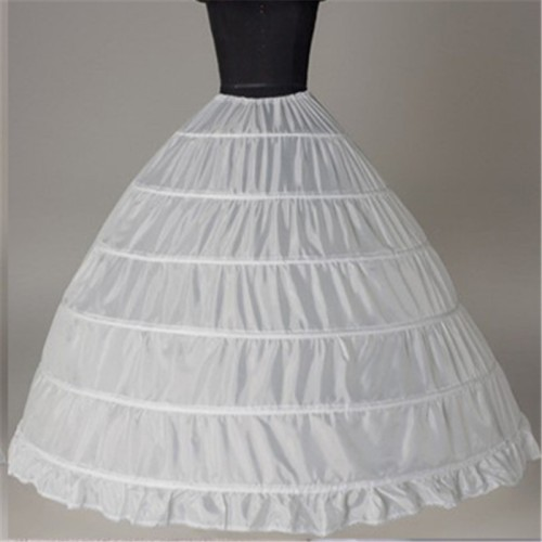 6 hoop petticoat underskirt para vestido de