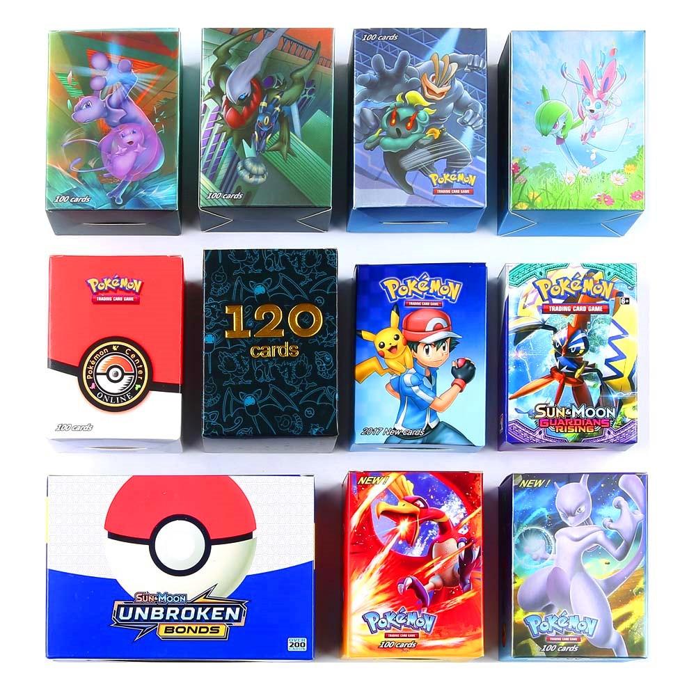 400pcs Pokemones Card (60pcs New Tag Team Card 80EX 60mega 200pcs GX Card ) In Stock Kids Trading Battle Game Card