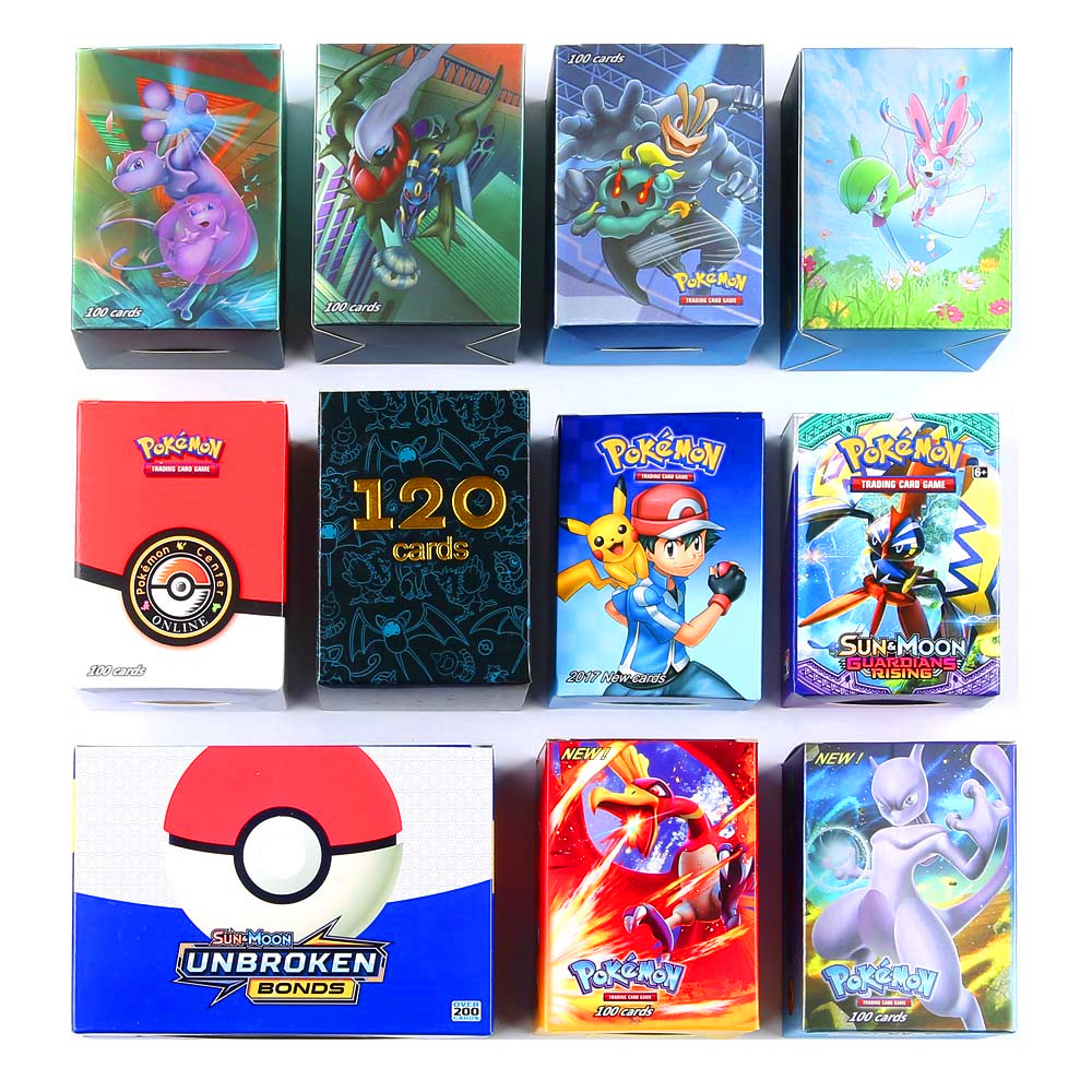Free Shipping 400pcs Pokemones Card (60pcs New Tag Team Card 80EX 60mega 200pcs GX Card ) In Stock Kids Trading Battle Game Card