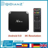 X96mini Android 9,0 4K Smart TV BOX 1080P Quad Core X96 mini TV BOX Amlogic S905W 2,4G Wireless WIFI media player