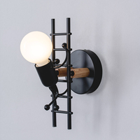 Nordic wall lamp bedroom creative personality lamp little man climb stair wall light aisle corridor children's room bedside lamp