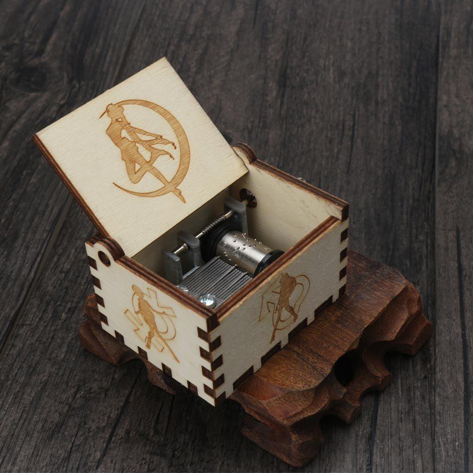 Прямая, деревянная музыкальная шкатулка ручной работы, рисунок Звездные войны, Juego De Tronos, рождественский подарок, подарок на год, подарок на день рождения