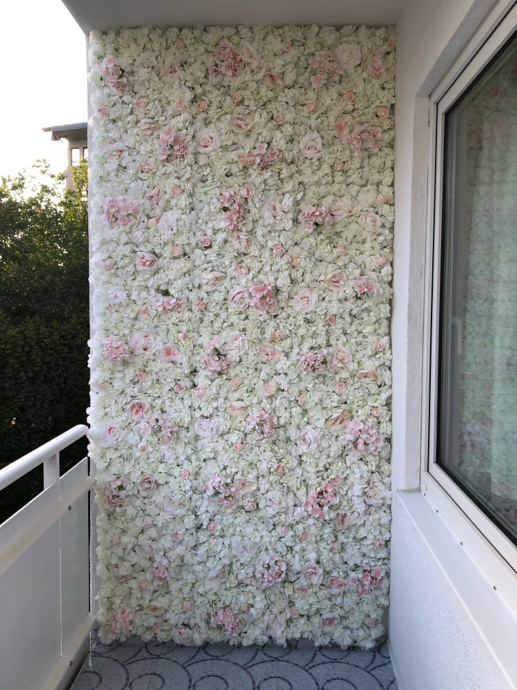 40x60cm Silk Rose Artificial Flowers Mat Wedding Decoration Fake Flowers Wall for Wedding Background Decoration Floral Mats