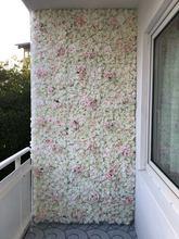 40x60cm de seda rosa flores artificiais tapete decoração do casamento falso flores parede para o fundo do casamento decoração floral esteiras