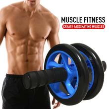 Abdominal Wheel Ab Roller Exercise abdominal muscles Double-wheeled belly Roller Gym Fitness wheel Work out the perfect abs 8pcs shower room bathroom glass door swing round pulley roller wheel circular shower wheel rolling wheel