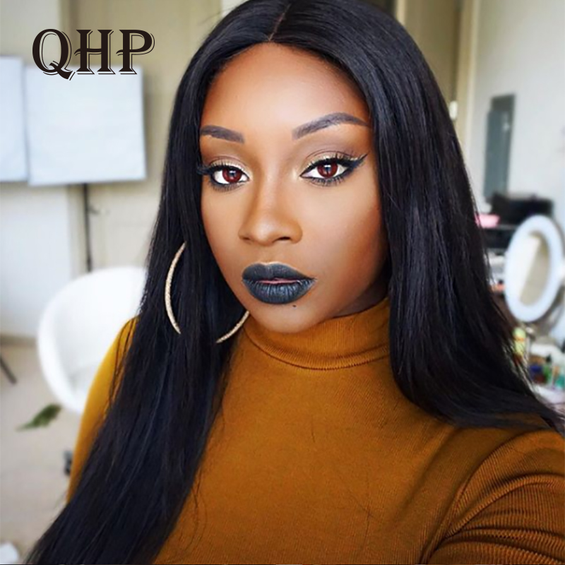 13X4/13x6 Straight Lace Front Wig Natural Color 360 Lace Frontal Wig 8