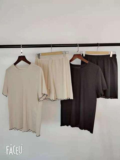 2 Piece Sets Womens Outfits Spring Women t-Shirt short Sleeve High Waist shorts Wide Leg Womens Trousers Two Piece Set Office 6
