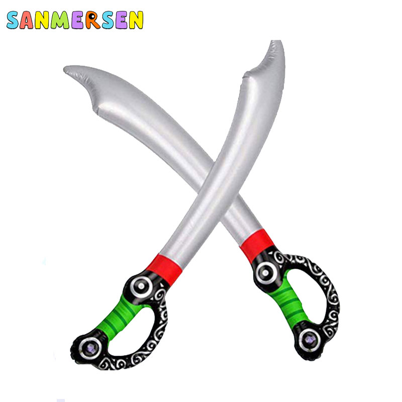 Quality Inflatable Balloon Sword Toys Soft PVC Pirate Action Party Outdoor Garden Toys Sword Fork For Children Boys Gifts