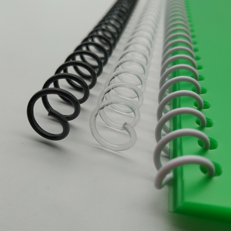 10Pcs 8-16mm Spiral Binding Coil A4 46 Hole Plastic Single Coils Loose-leaf Notebook Binding Ring Binder School Office Supplies