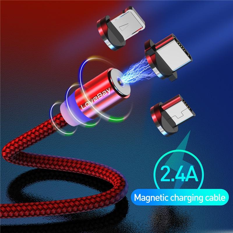 Câble magnétique de micro USB de type C, marque Essager pour iPhone, Android et Xiaomi 1