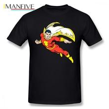 Shazam T Shirt Shazam Soaring T-Shirt Short Sleeves 6xl Tee Shirt 100 Percent Cotton Print Fun Beach Men Tshirt цены