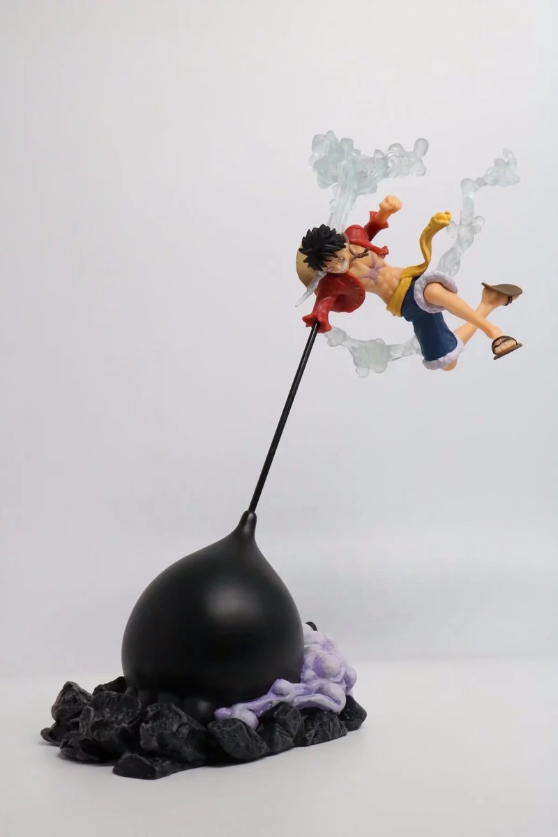26CM Anime ONE PIECE Gear Fourth Scultures Big Monkey D Luffy Battle Fighting Special Color Ver PVC Action Figure Toys Lelakaya