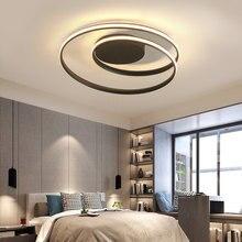 Led teto lâmpada para o quarto sala de estar jantar moderna criativo preto lustre na cozinha casa design iluminação