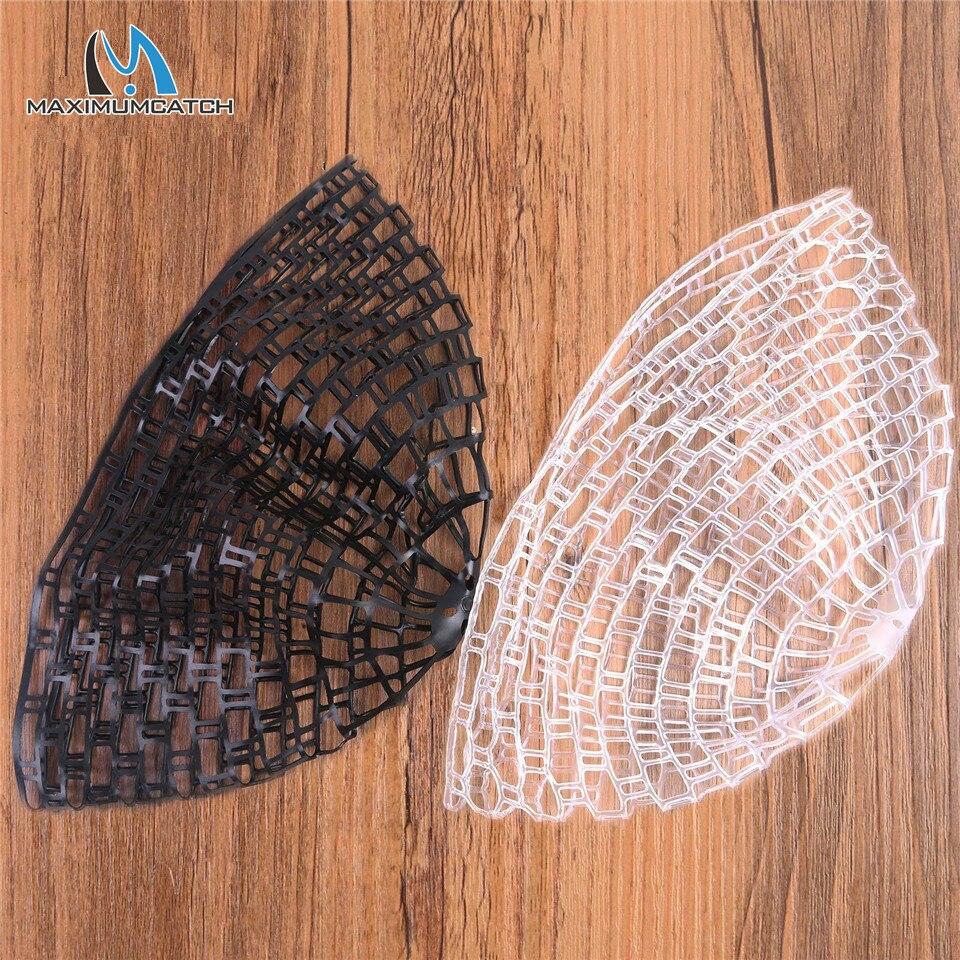 M 100CM Rubber Fishing Net Outdoor Fly Fishing Landing Net Clear Rubber Replacement Mesh Bag