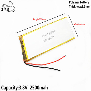 Good Qulity battery 3.8V,2500mAH 3344113 Polymer lithium ion / Li-ion battery for tablet Internal battery of mobile phone image