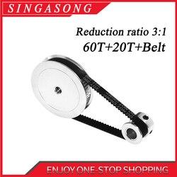 Timing Belt Pulley GT2 60teeth 20teeth Reduction 3:1/1:3 3D printer accessories belt width 6mm Bore 5&8&10mm.