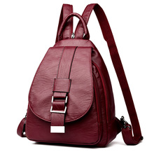 New 2019 Women Leather Backpacks Vintage Shoulder Bag Winter Female Backpack Ladies Travel Backpack Mochila School Bags For Girl joyir genuine leather women backpack vintage brown school girl shoulder bag backpacks bao bao fashion ladies shopping travel bag