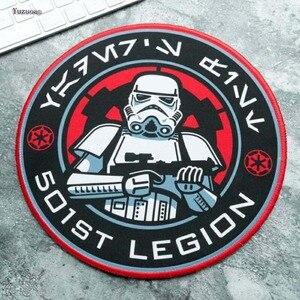 Image 3 - Yuzuoan Star Wars Gaming Maus Pad Kreative Film Peripherie Tod Stern Verdickung Spiel Tisch Runde Matte Größe 22X22CM 20X20CM