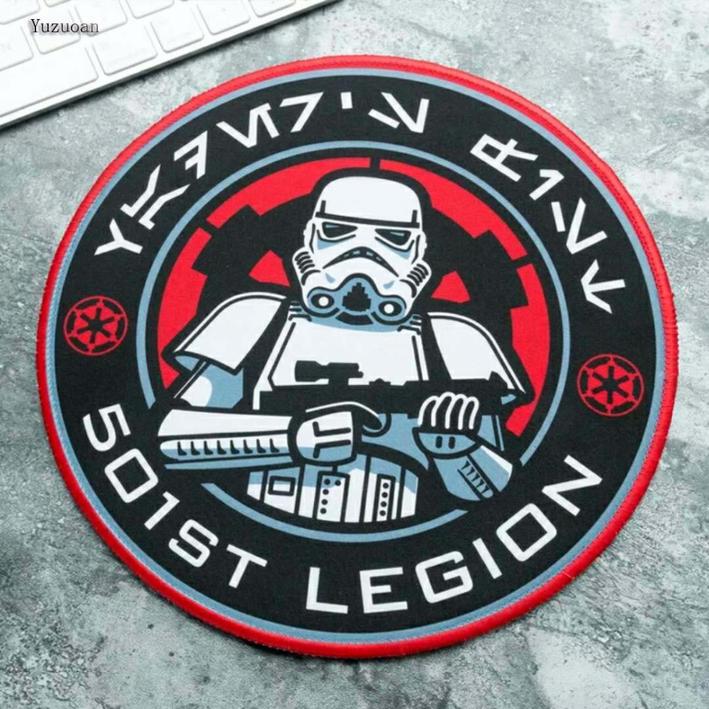 Image 4 - Yuzuoan Star Wars Gaming Mouse Pad Creative Movie Periphery Death Star Thickening Game Table Round Mat Size 22X22CM 20X20CM-in Mouse Pads from Computer & Office