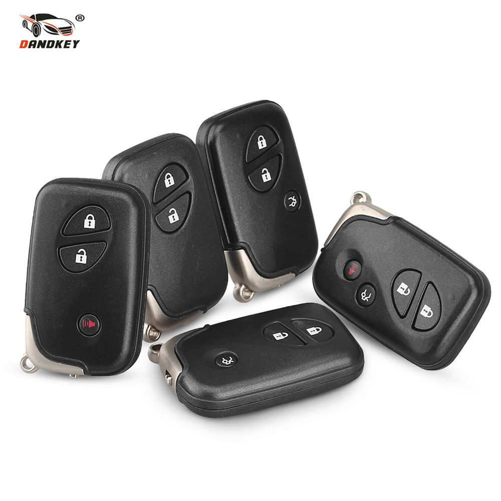 Dandkey Car Remote Key 2 3 4 Buttons For <font><b>Lexus</b></font> LX470 GS450h GS350 GS430 IS350 SC430 GS250 LX570 ES350 <font><b>RX350</b></font> IS250 TOY48 Blade image