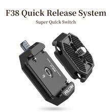 Ulanzi falcam f38 cardan universal arca swiss placa de liberação rápida braçadeira interruptor rápido para câmera dslr tripé cardan acessórios
