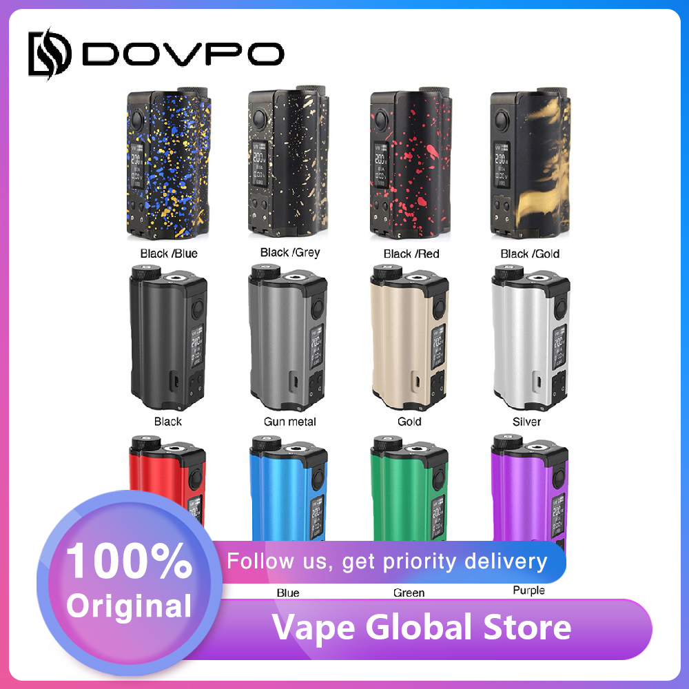 HOT Sale Original 200W DOVPO Topside Dual Top Fill TC Squonk MOD With 10ml Squonk Bottle E-cig Vape Box Mod Vs Drag 2 / LUXE