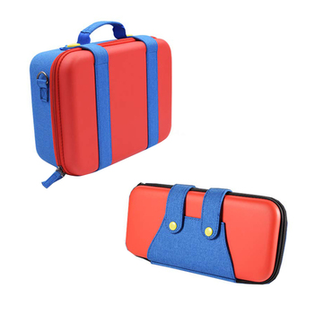 red-pu-oxford-cloth-travel-hard-shell-eva-storage-bag-protective-carrying-case-set-for-nintendo-switch-ns-accessories