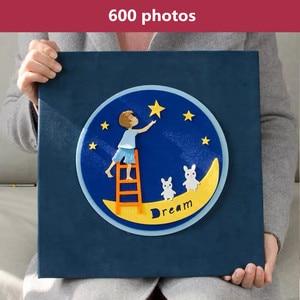 Image 3 - PA5 6 pouces album photo 700 photos type de page enfants famille album créatif feutre pâte bande dessinée couverture bébé grandir album