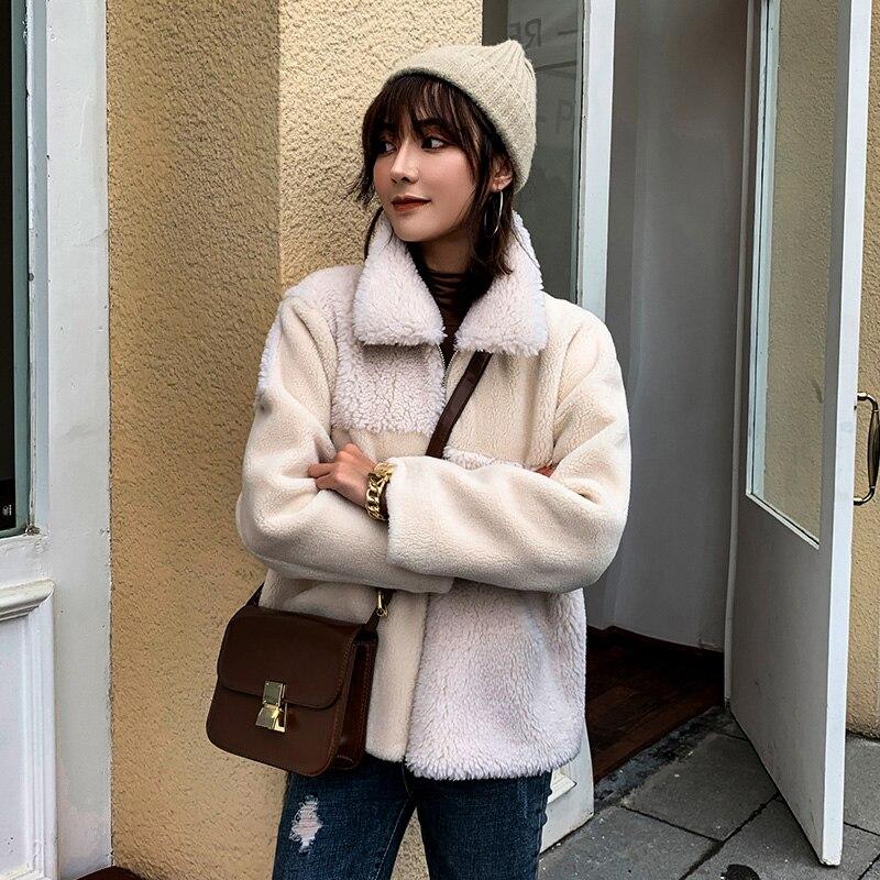 Women   Woollen  coats 2019 Autumn Winter Long Sleeve Casual   Outwear Jackets Coat