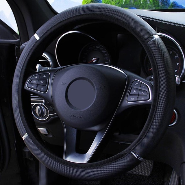 YOSOLO Universal 37-38cm Diameter PU Leather Car Steering Wheel Cover Anti Slip Steering Covers Car-styling