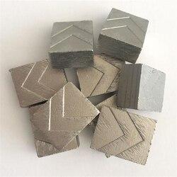 DS03 Grote Bladen Scherpe Tips Graniet Diamond Segmenten Single Blade Segmenten voor Snijden Graniet Blok Steengroeve Een Set