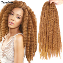 Trend Way 20lnch Marley Crochet Braids Hair Extensions Ombre Afro Kinky Soft Twist Long Hair For Women Synthetic Braiding Hair cheap High Temperature Fiber CN(Origin) Marley Braids 16strands pack Pure Color Gray Red Purple Marley Braiding Hair 20Inch Synthetic Soft Kinky Twist Hair