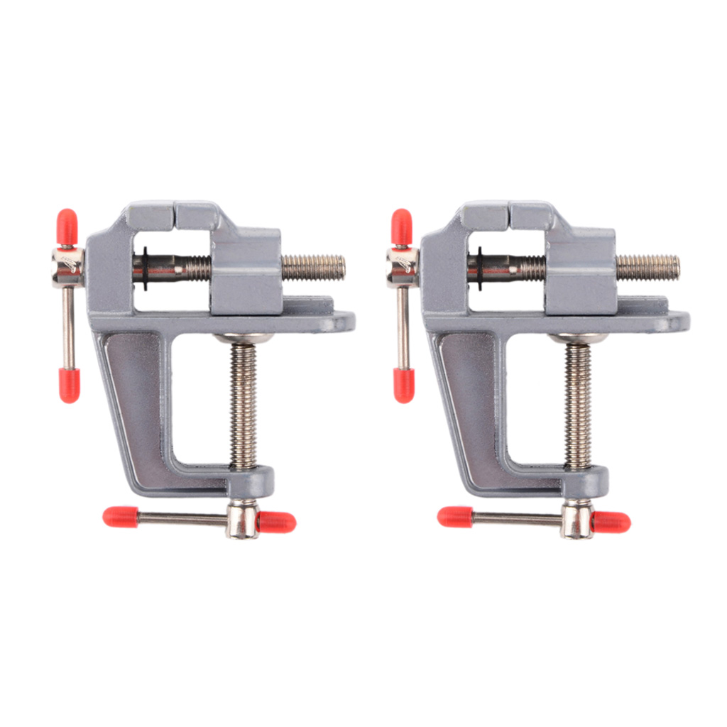 2PCS Mini Table Clamp Small Bench Vice New Upgraded Cast Iron Manufacturing Jewelers Hobby Clamps Craft Repair Tool