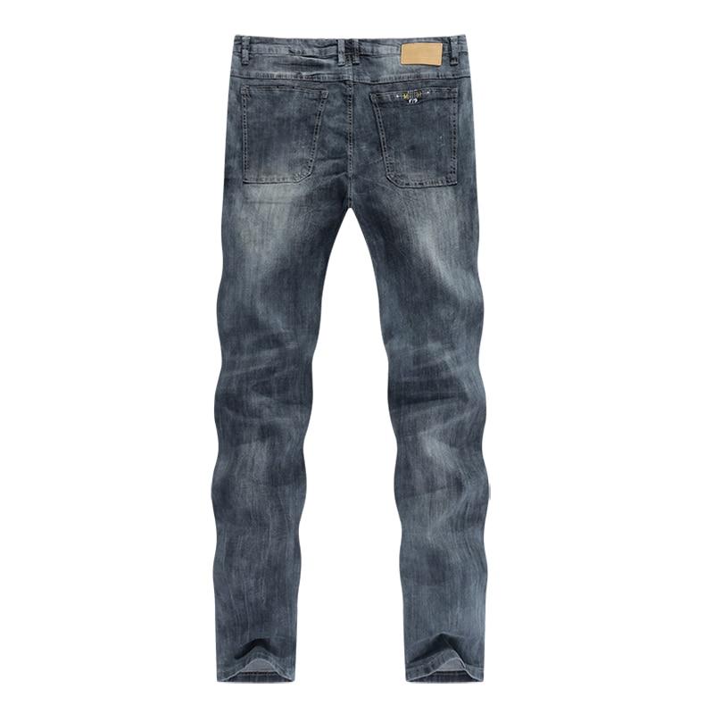 KSTUN mens jeans slim fit retro gray denim pants man 2020 summer thin grey vintage casual pants jeans male long trousers cowboys 12