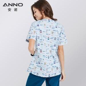 Image 5 - ANNO Krankenhaus scrubs Set Pflege Einheitliche für Männlich weibliche Liefert Dental Klinik Krankenschwester Scrubs Frauen SPA Uniformen