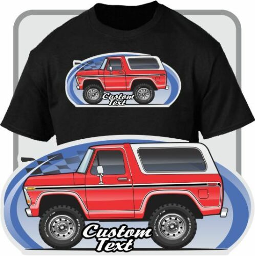 Custom Art T-Shirt Cartoon 1978 1979 Ranger Bronco Cap Not Affiliated With