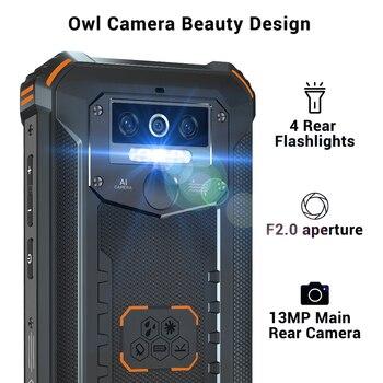 OUKITEL 4GB 64GB WP5 Pro Smartphone 8000mAh 5.5 Inches Android10 Mobile Phone Triple Camera Face/Fingerprint Unlock IP68 Phone 3