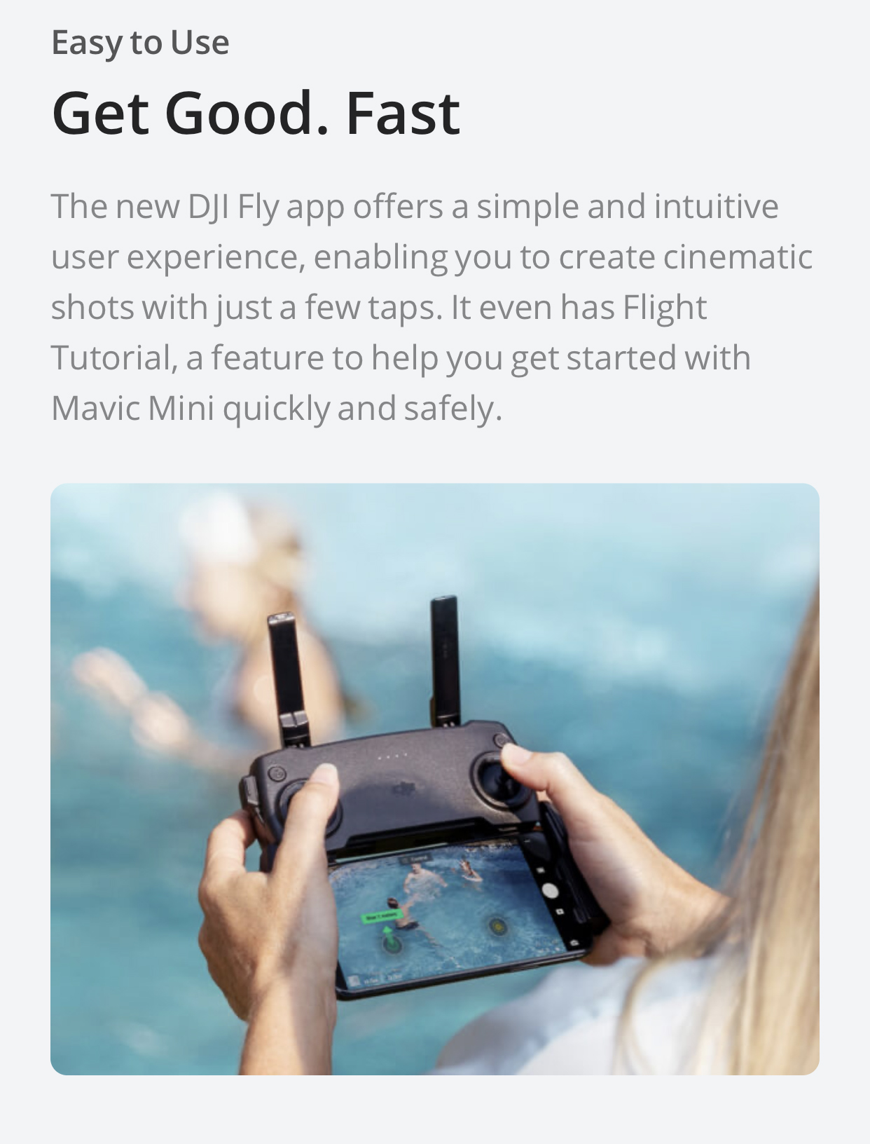 DJI Mavic Mini Drone 2.7k camera 30 minutes flight time