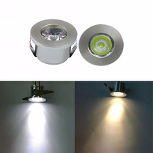 New LED White/Warm White AC 85-265V Mini Surface Mounted Light Led Downlight Jewelry Cabinet Lamp Spot Light