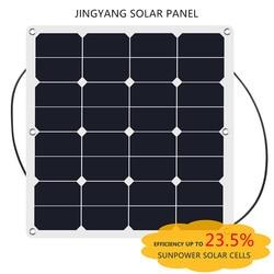 China Hot sell 50w Sunpower Flexible Solar Panel 18V for Car