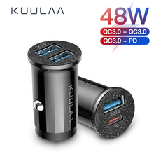 KUULAA Quick Charge 4.0 36W QC PD 3.0 Car Charger for Samsun