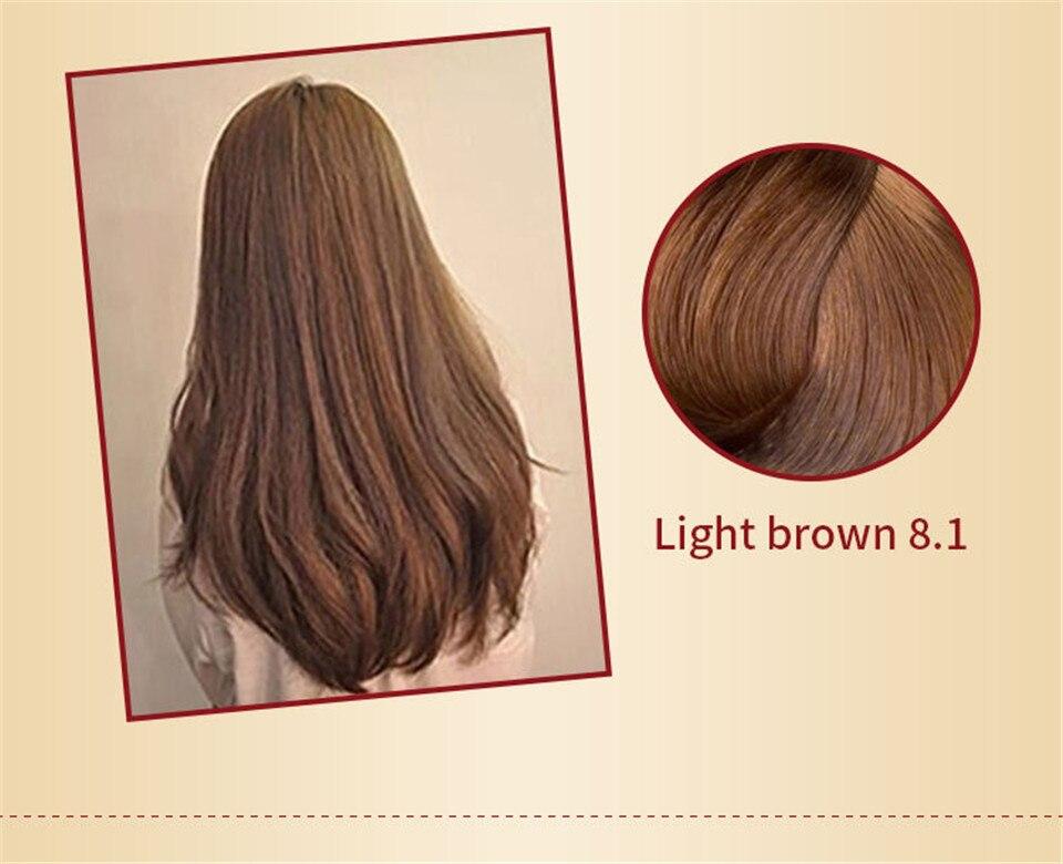 Mokeru natural planta tintura de cabelo fácil