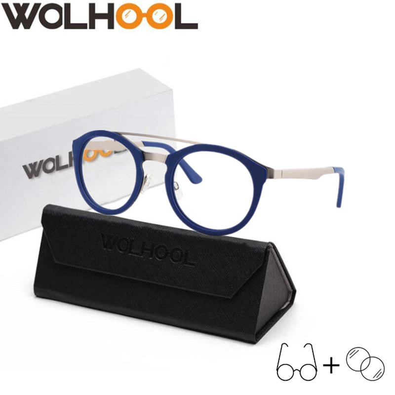Fashion Big Solid Women <font><b>Prescription</b></font> <font><b>Glasses</b></font> Round Multifocal Myopia Man <font><b>Glasses</b></font> <font><b>Progressive</b></font> Lens Eyewear Optical <font><b>Glasses</b></font> image