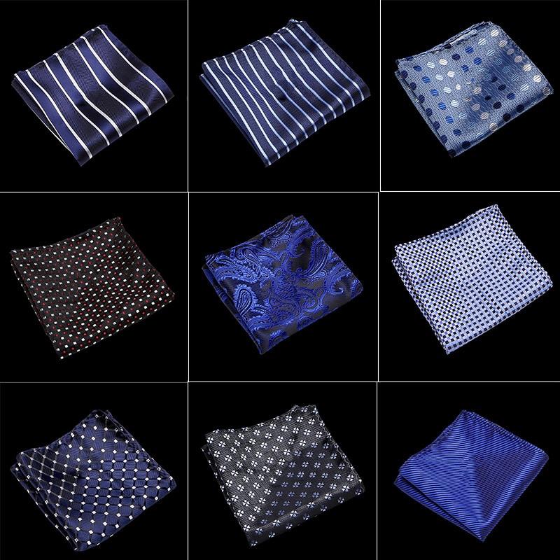 100% Silk Men's Hankerchief Scarves Vintage Hankies Men's Pocket Square Handkerchiefs Striped Solid Handkerchief 22*22 Cm