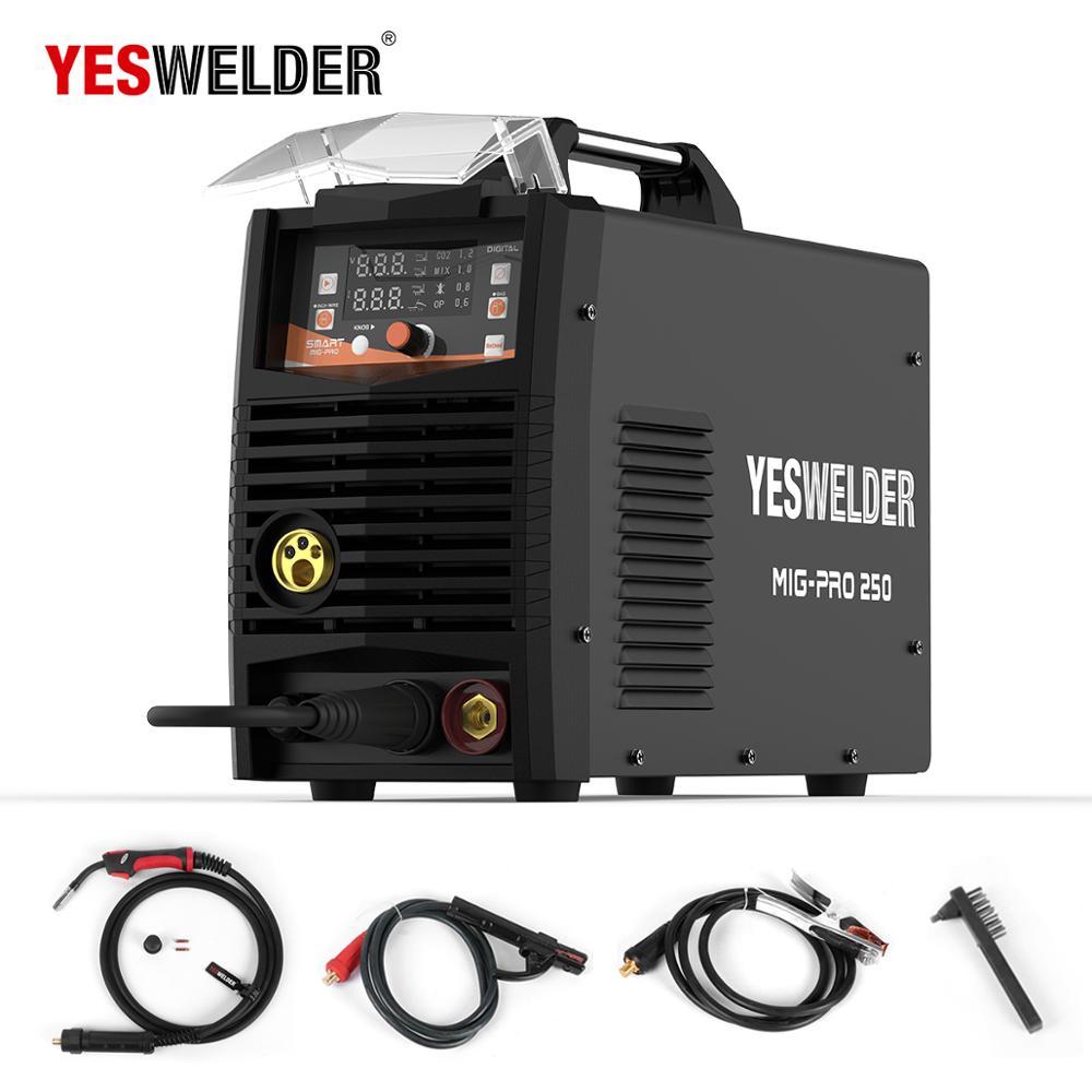 YESWELDER MIG250A No Gas and Gas MIG Welding Machine MIG Welder With Light Weight Single Phase 220V Iron WelderMIG Welders   - AliExpress