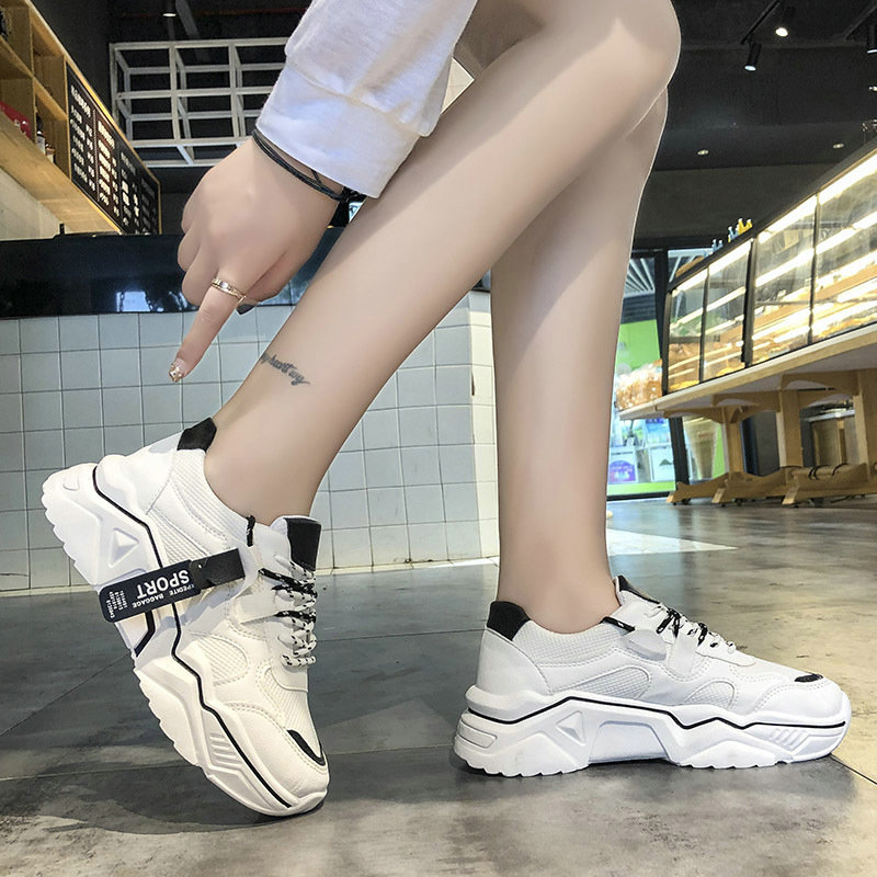 2019 New Lace-up Running Shoes Leisure Comfortable Footwear  Women Sneakers Breathable Women Sneakers Outdoor Sport Shoes E31-95
