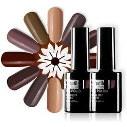 Beautilux Nail Gel Polish Brown Coffee Chocolate Color Collection Salon Nails Art Gels Varnish UV LED Winter Nail Lacquer 10ml
